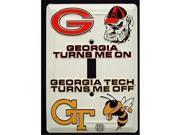 Georgia  Georgia Tech GT Light Switch Covers Plates (single) LS10000