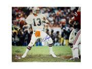 Steiner Sports MARIPHS016013 Dan Marino Miami Dolphins Home Jersey Dropping Back to Pass Horizontal 16x20 Photo - Signed by Ken Regan