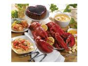 Lobster Gram PLZGR2C LOBSTERPALOOZA GRAM DINNER FOR TWO WITH 1 LB LOBSTERS