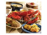 Lobster Gram LICGR2Q LOBSTERLICIOUS GRAM DINNER FOR TWO WITH 1.25 LB LOBSTERS