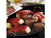Lobster Gram M10FM2 TWO 10-12 OZ MAINE LOBSTER TAILS AND TWO 6 OZ FILET MIGNON STEAKS