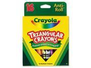 Crayola. 524016 Triangular Crayons, Assorted, 16/Box