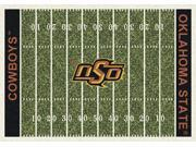 Milliken MI-4000018646 Oklahoma State Cowboys 7 ft. 8 in. x 10 ft. 9 in. Premium Field Rug