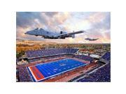 Replay Photos 353876-L Boise State Broncos A-10 Warthogs Flyover Bronco Stadium Canvas Wrapped Unframed Photo 15x20