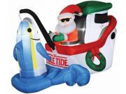 Costumes for all Occasions SS87773G Airblown Animated Santa Fishin