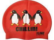 1Line Sports CHIRD Chillin! Silicone Swim Cap in Red