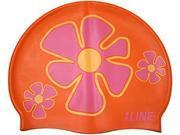 1Line Sports FLTOR Flower Trio Swim Cap in Orange