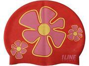 1Line Sports FLTRD Flower Trio Swim Cap in Red