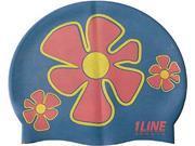 1Line Sports FLTRO Flower Trio Swim Cap in Royal