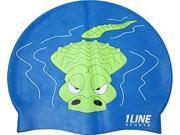 1Line Sports GATRO Gator Silicone Swim Cap in Royal