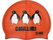 1Line Sports CHIOR Chillin! Silicone Swim Cap in Orange