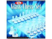 POOF-Slinky 37250BL Ideal Glass Chess Set with Frosted and Polished Glass Board and Playing Pieces