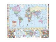 Universal Map 2382227 World Primary Map Wall Map-Railed