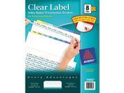 Avery 11993 Index Maker Clear Label Contemporary Color Dividers, 8-Tab, 25 Sets-Box