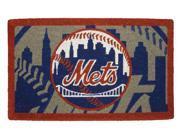 Team Sports America EV-0007L705 New York Mets 18x30 Bleached Welcome Mat