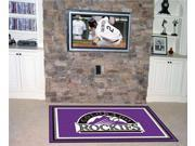 Fanmats FM-07056 Colorado Rockies 5 ft. x 8 ft. Rug