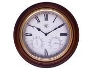 River City Cuckoo 1016-18 18 Inch Indoor-Outdoor Clock with Hygrometer and Thermometer