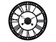 River City Cuckoo L26-138S Indoor Black Skeleton Tower Wall Clock with No Background