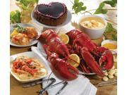 Lobster Gram PLZGR4C LOBSTERPALOOZA GRAM DINNER FOR FOUR WITH 1 LB LOBSTERS