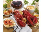 Lobster Gram PLZGR4Q LOBSTERPALOOZA GRAM DINNER FOR FOUR WITH 1.25 LB LOBSTERS