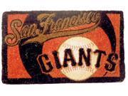 Team Sports America EV-0007L709 San Francisco Giants 18 x 30 Bleached Welcome Mat