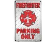P - 028 Firefighter Parking Only 8 x 12 - SP80010