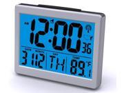 Sonnet Industries T-4652 Atomic Desk Clock with Bright Blue Light and 1.5 in. High numbers