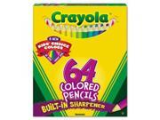 Crayola. 683364 Colored Woodcase Pencil, HB, 3.3 mm, Assorted, 64 Per Pack