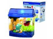 Aqueon Mini Bow Desktop Aquarium Kit 1 Gallon Blue 01204