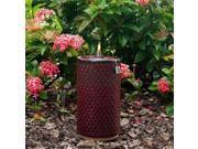 Smart Solar 215088-13RL Apollo Ceramic Garden Torch - 13 in. H - Red Lava - Designed for Open Stock Display