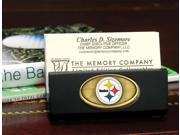 Memory Company MC-NFL-PST-1446 Pittsburgh Steelers Business Card Holder - Black