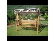 International Caravan TT-SW-006-3 Royal Tahiti 59 in. Wood Three Seated Swing