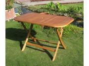 International Caravan TT-RE-053 Royal Tahiti Rectangular Folding Table