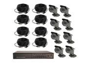 8CH DVR COMPLETE SYSTEM, 500GB HD, 8 WIRED CAMERAS WITHOUT MONITOR