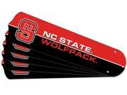 Ceiling Fan Designers 7990-NCS New NCAA NC STATE WOLFPACK 52 in. Ceiling Fan Blade Set