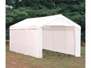 ShelterLogic 23532 10 ft. ×20 ft.  Canopy, 1-.38 in.  8-Leg Frame, White Cover, Enclosure & Extension Kits