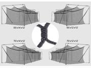 Cimarron Sports CM-704245KP Cimarron 70 x 14 x 12 num. 51 Braided Batting Cage Net