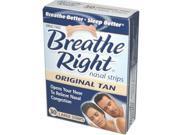 Breathe Right Nasal Strips Original Tan - 30 Large Strips
