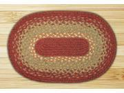Capitol Importing 00-104 Burg-Maroon-Sunflower - 10 in. x 15 in. Oval Swatch