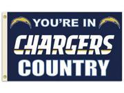 Fremont Die BP-94119B San Diego Chargers 3 ft. x 5 ft. Flag in Country