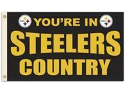 Fremont Die BP-94113B Pittsburgh Steelers 3 ft. x 5 ft. Flag Country