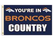 Fremont Die BP-94132B Denver Broncos 3 ft. x 5 ft. Flag , Country