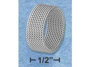 Stainless Steel Womens 8mm Soft Mesh Band - Size: 7