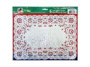 Party Dimensions 71844 10 in. x 14 in. Lace Doily Silver - 288 Per Case
