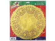 Party Dimensions 72942 12 in. Lace Doily Gold - 288 Per Case