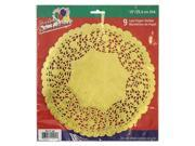 Party Dimensions 72941 10 in. Lace Doily Gold - 432 Per Case