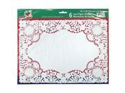 Party Dimensions 70844 10 in. x 14 in. Lace Doily White - 288 Per Case