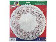 Party Dimensions 71842 12 in. Lace Doily Silver - 288 Per Case