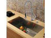 Vigo Inductries VG15294 VIGO All in One 30-inch Undermount Stainless Steel Kitchen Sink and Chrome Faucet Set