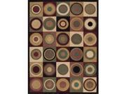 Nourison 50757 Parallels Area Rug Collection Multi Color 2 ft 3 in. x 3 ft 9 in. Rectangle